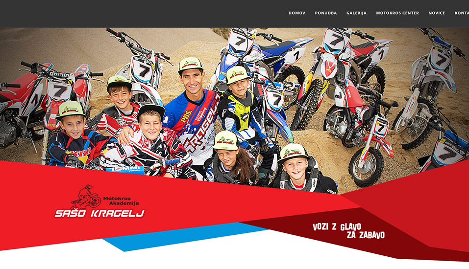 Promotion of young talents for motocross at the Kragelj Academy