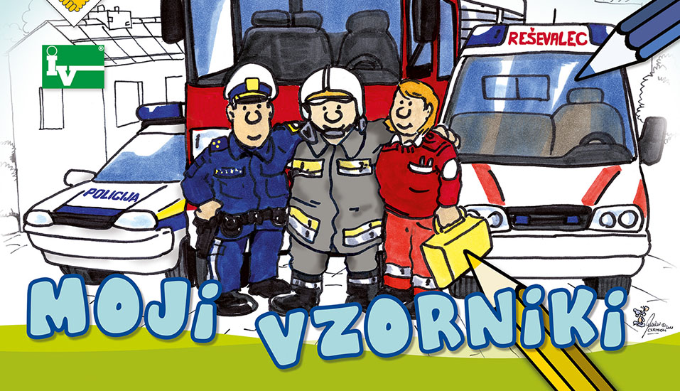 """Donation to the free coloring book of the Police Union of Slovenia """"My role models"""""""